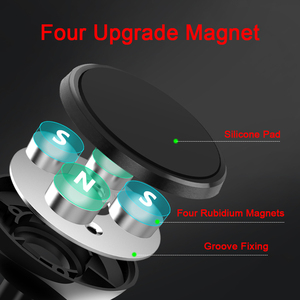 Image 2 - Metrans Magnetic Car Phone Holder For iPhone 360 Degree Air Vent Outlet Mount Stand Holder For Your Mobile Phone telefon tutucu
