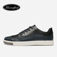 2016 Natural Leather Cow Leather Bullock Men Shoes Top Quality New Fashion Original Hecrafted Brand Casual
