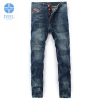 2017 Autumn Newly Fashion Mens Jeans DSEL Brand Retro Classic Style Ripped Jeans Men Buttons Pants