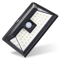 44 LED Solar Light Outdoor Waterproof Garden PIR Motion Sensor Solar Power LED Wall Light Emergency