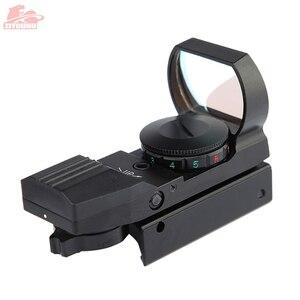 Image 2 - 20 ミリメートル/11 ミリメートルホロ視力ライフルスコープ狩猟オプティクス照準装置 4 レチクル視力反射赤グリーンドット