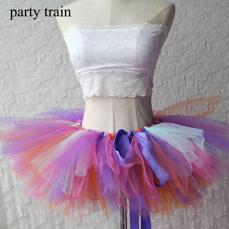 Tüll Tutu Rock Sexy Mini Phantasie Erwachsene Petticoat Fluffy Mesh - Damenbekleidung - Foto 6