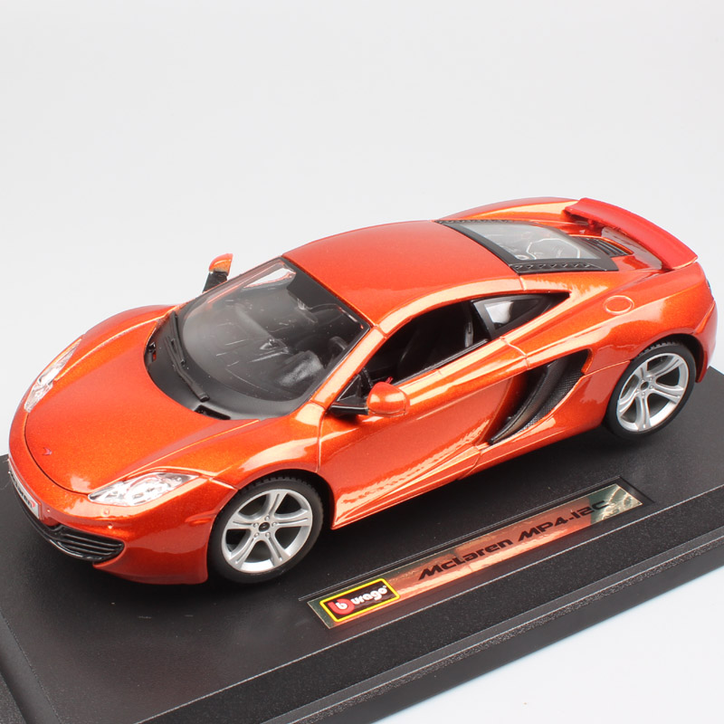 1/24 Scale BBurago luxury Mclaren MP4 12C coupe GTR sports racing auto die cast modeling car replica toy for children collection цена 2017