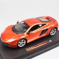 1/24 Scale BBurago luxury Mclaren MP4 12C coupe GTR sports racing auto die cast modeling car replica toy for children collection
