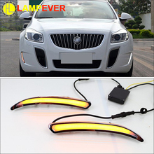 2 Pcs Car LED DRL For Buick Regal GS Opel Insignia  Light Bar White Yellow Blue-Night Fog Cover Daytime Running Lights Kits