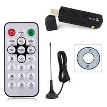 цена на Universial Digital USB2.0 HDTV TV FM+DAB DVB-T RTL2832U+FC0012 Support SDR Tuner Receiver Stick