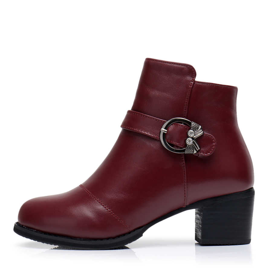 Hakiki inek Deri Ayak Bileği kadın kış Botları Rahat yumuşak ayakkabı Marka Tasarımcısı El Yapımı 2018 kış mavi siyah kırmızı kürk