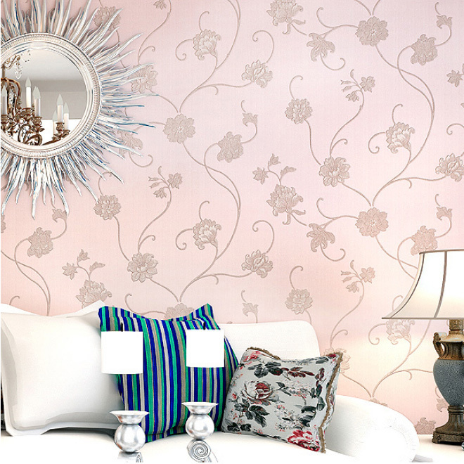 waterproof washable pvc floral wallpaper roll 10m free shipping
