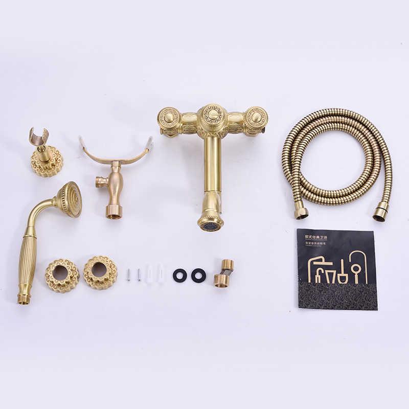 Baterie prysznicowe zestaw system prysznicowy antyczne luksusowe mosiądzu opady deszczu dotknij Spray głowica prysznicowa łazienka prysznic zestaw mikser wody CraneR45502