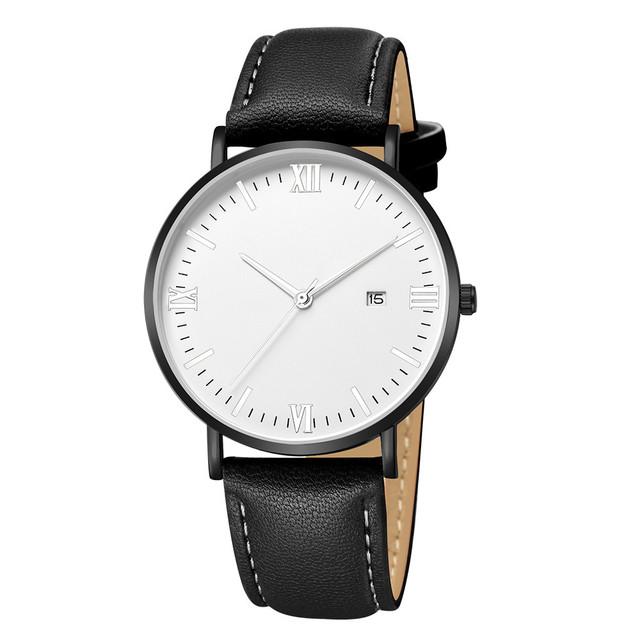 Duobla Minimalist Luxury Quartz Stainless Steel Dial Leather Band Wrist Watch Roman numerals women watches relogio feminino 40Q