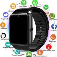 Беспроводные умные часы для мужчин GT08 с сенсорным экраном большой аккумулятор поддержка сим-карта TF камера для IOS iPhone Android телефон-часы для ж...