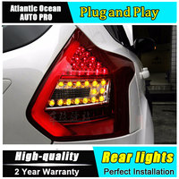 JGRT Car Styling For Ford Focus 3 Taillights 2012 2014 Focus Hatch Back LED Tail Lamp