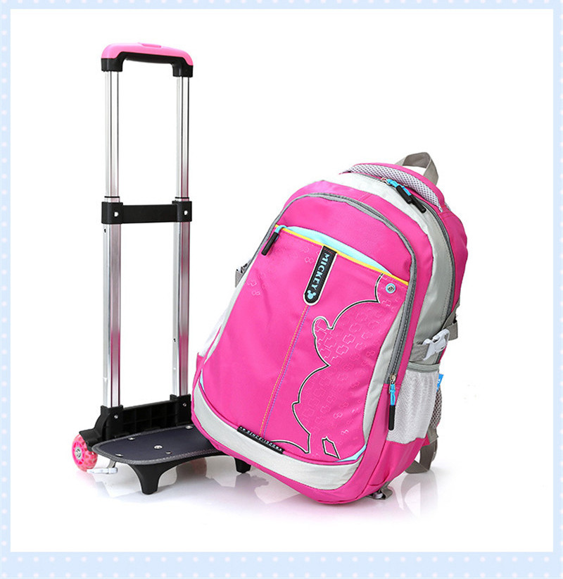 New Cartoon Boy Trolley Backpack School Bags Wheeled Bag Student ...