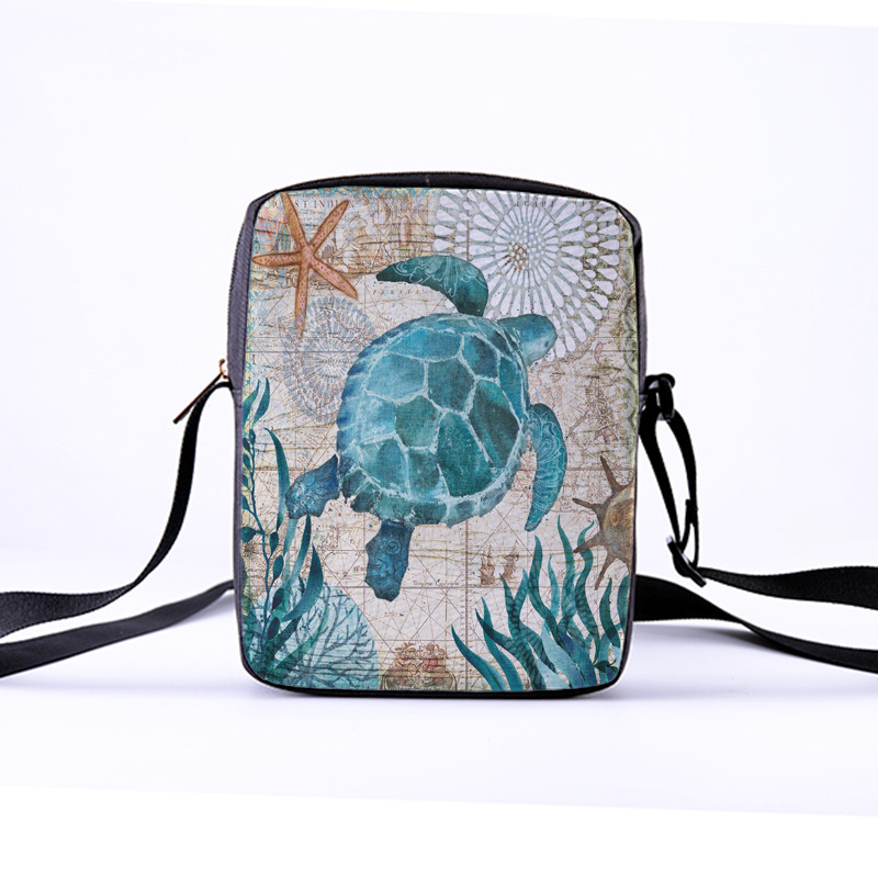 CROWDALE Women Crossbody Bags Marine life Printing for Kids Girls Casual Mini Female Children Messenger Bags Bolsos Mujer 10