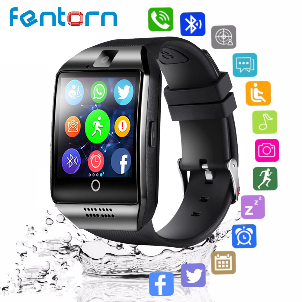 Fentorn Q18 Bluetooth Smart Watch Relogio Android Smartwatch Phone Call SIM TF Camera for IOS iPhone Samsung HUAWEI VS Y1 DZ09 цена