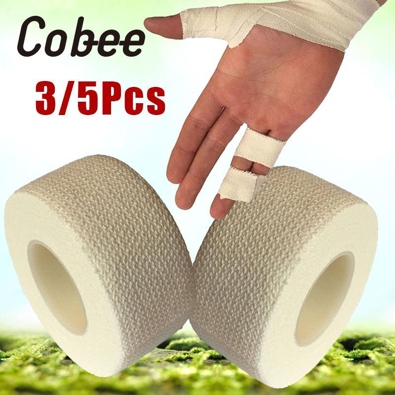 Cobee Self Adhesive Bandage Wrap Elastic Stretch Sports Wrist Hand Thumb Finger Tape Strap First Aid White Tape self adhesive sports elastic tape multicolour cotton bandage medical ankle support belt sports safety tape bandage 20rolls pack