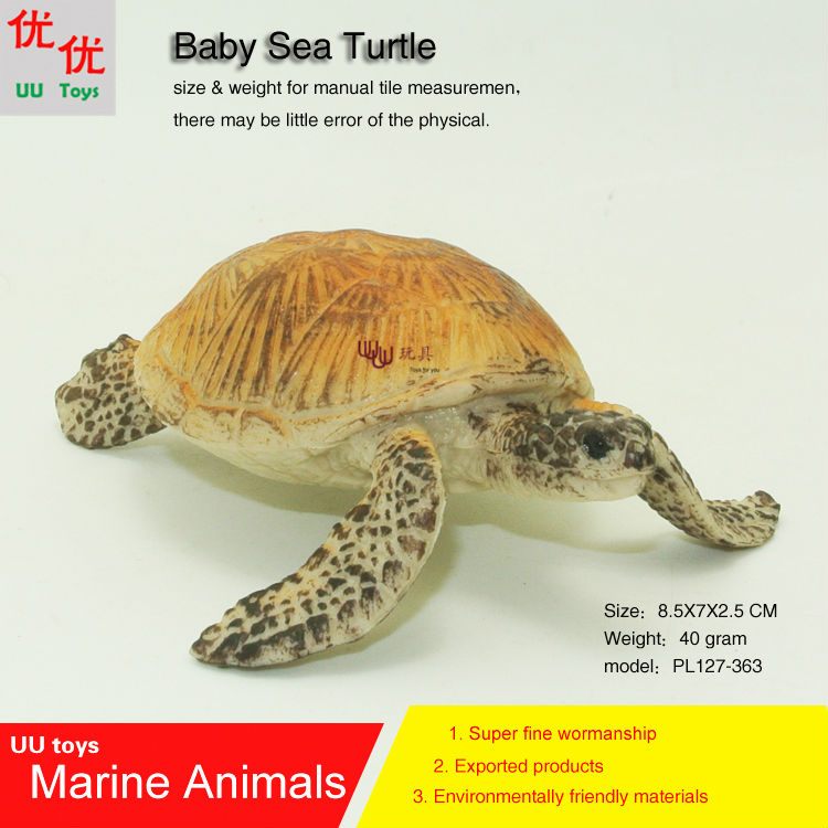 Hot toys Baby Sea Turtle Simulation model Marine Animals Sea Animal kids gift educational props (Chelonioidea) Action Figures  infrared remote control simulation brazil turtle toy animal model