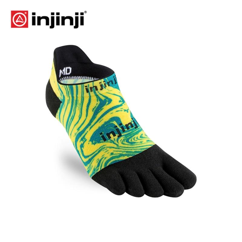 Injinji Toe Socks 2019 New CoolSpec Run Lightweight No-show Blister Prevention Five Fingers Running Basketball Yoga Socks Men