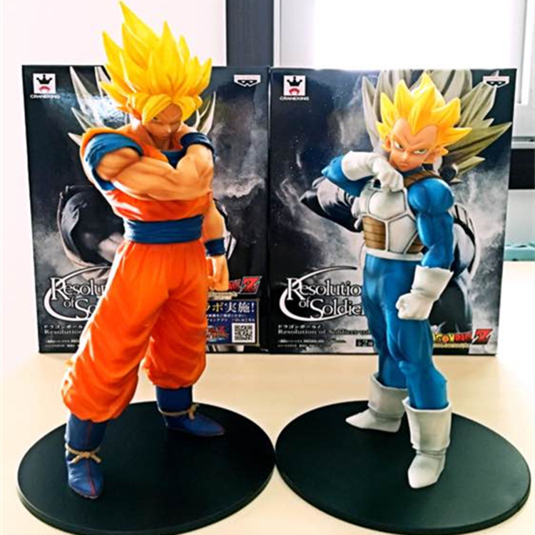 Dragon Ball Z Resolution of Soldiers vol.1 Son Gokou / vol.2 Vegeta PVC Collectible Model 20-21cm KT3949 hh 135 novel zipper style universal 3 5mm jack wired in ear headset deep pink