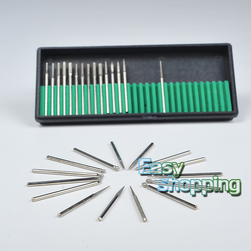 30Pcs/Box Dental Diamond Burs Millers Tooth Drill Jewelers 2.35mm