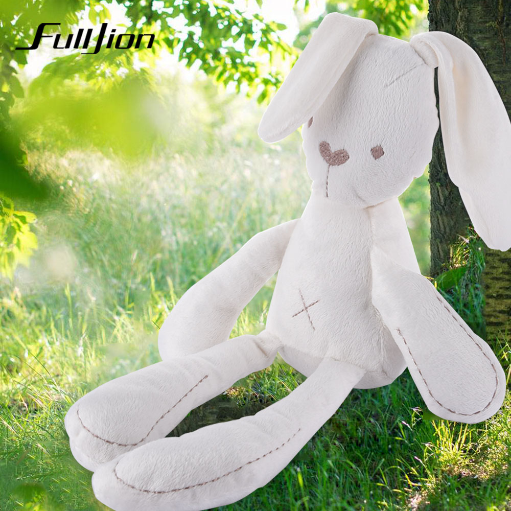Fulljion Stuffed Plush Animals Rabbit Toys For Children Kawaii Soft Ty Cute Baby Fluffy Bunny Sleeping Mate Dolls & Stuffed Toys fulljion baby stuffed plush animals elephant toys for children kawaii dolls infant sleeping back cushion stuffed pillow gifts