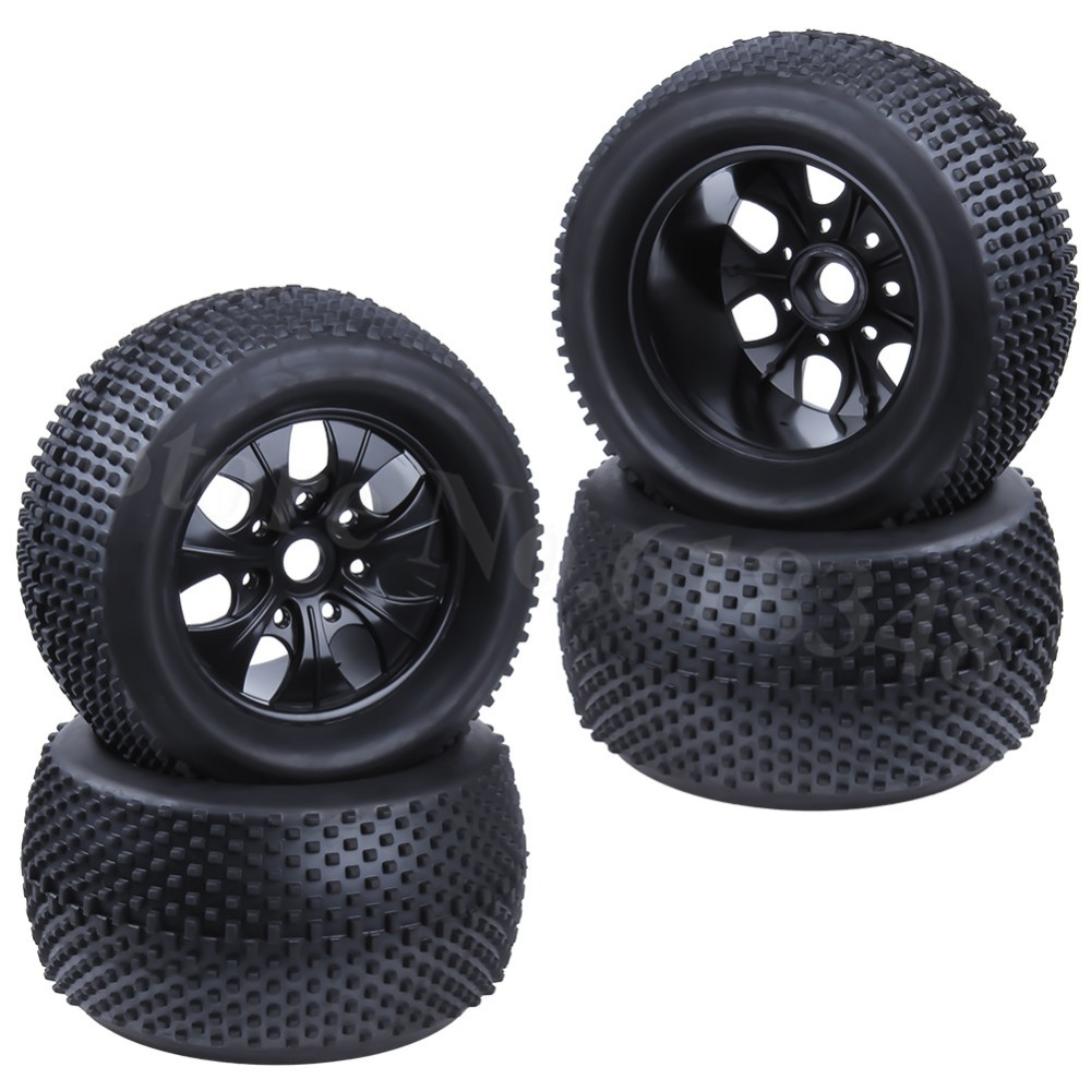 4pcs 2 2 inch RC 1 8 Monster Truck Tires Wheel Rim Rubber 17mm Hex Hub
