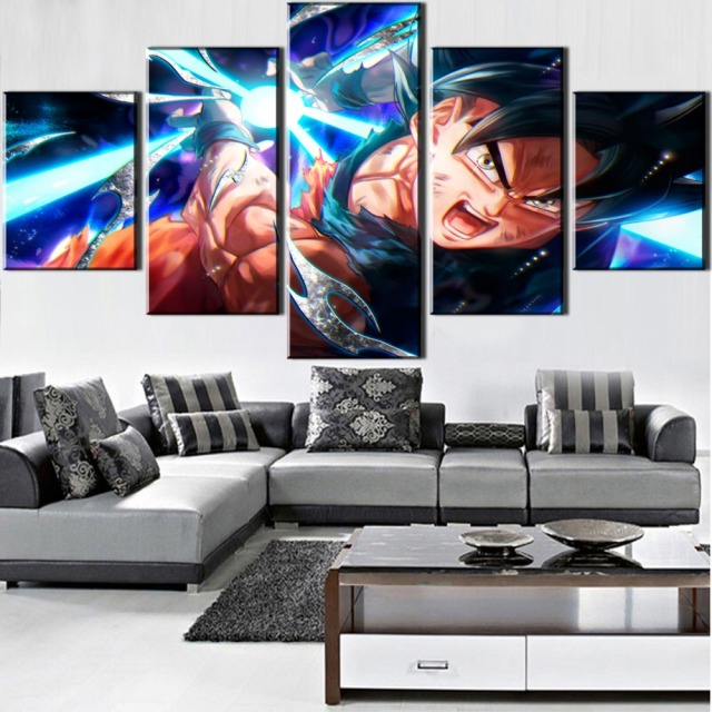 5 PIECES GOKU WALL POSTER