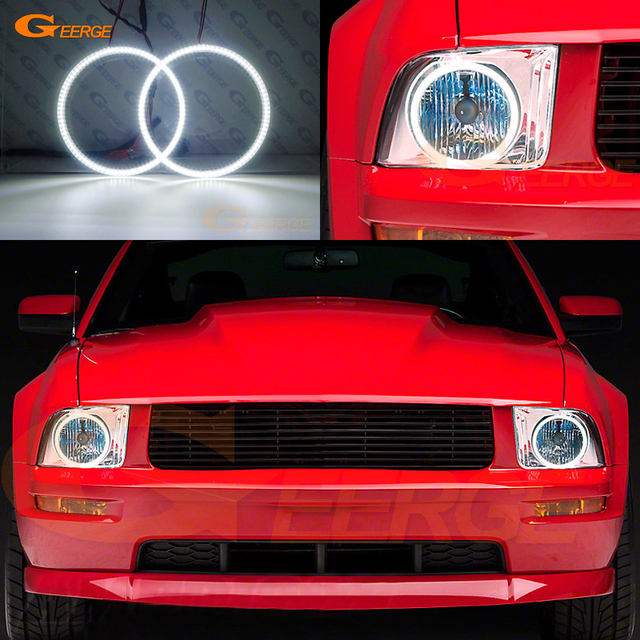 For Ford Mustang 2005 2006 2007 2008 2009 Headlight Excellent Ultra Bright Illumination Smd Led Angel Eyes Halo Ring Kit Drl