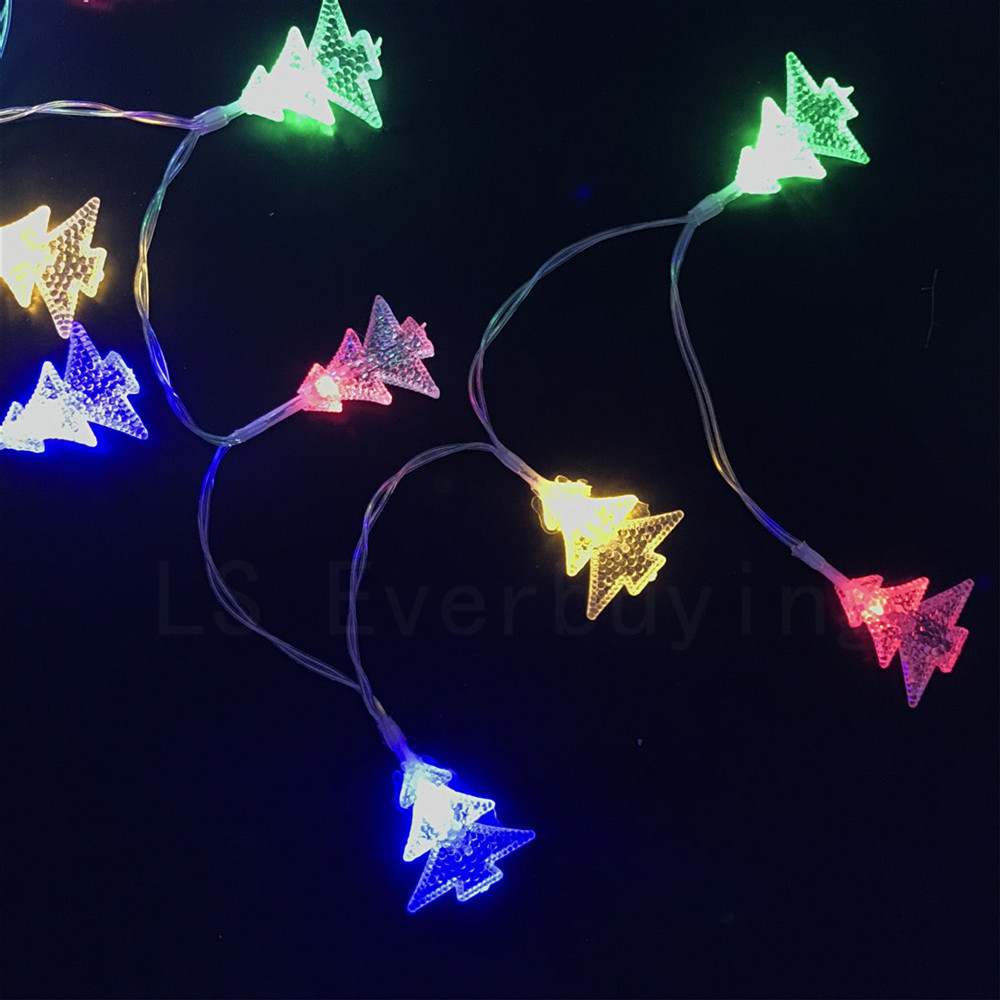 christmas decoration hanging outdoor light aa battery operation 2m multi color led string party wedding garden - Lighted Christmas Decorations