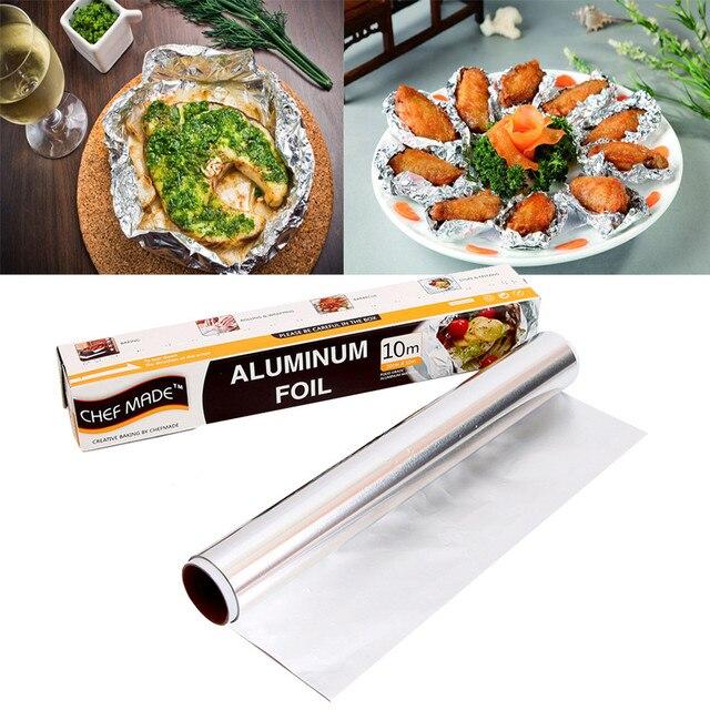 ISHOWTIENDA 30CM x12M Aluminium Foil Kitchen Catering Tin BBQ Food ...