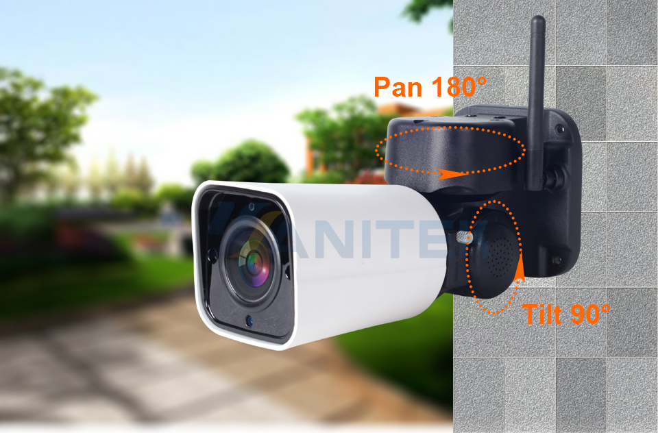 Image 3 - 1080P 2MP PTZ IP Camera WiFi Bullet Outdoor Wireless WiFi Waterproof Camera CCTV Security Surveillance 4X Optical Zoom IP Camara-in Surveillance Cameras from Security & Protection
