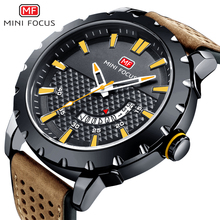 MINIFOCUS Fashion Casual Watch Men Waterproof Leather Watch Strap Men's Watches Quartz Wrist Watches Luxury Brand Male Clock Hot fashion casual gonewa brand men watches sports silicone strap business simple wrist watch 10 bar waterproof male clock gon047