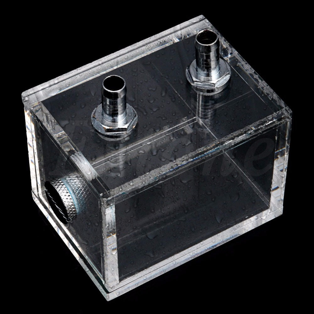BGEKTOTH 200ml Water Cooling Square Acrylic Water Cooled Brushless Pump Tank Capacity leopard water cooling device lb36wcj 40mm 3640 boat water cooled brushless motorfreeshipping