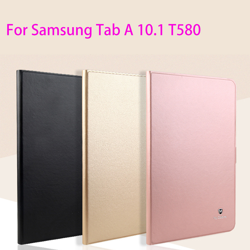 Luxury Leather Case For Samsung Galaxy Tab A A6 10.1 2016 T580 T585 SM-T580 T580N Case Cover Funda Fashion Tablet Flip Shell silk texture horizontal flip leather case for galaxy a6 2018 with holder