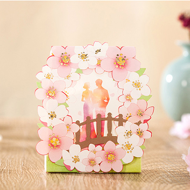 50 Pieceslot Wedding Gifts To Guests Peach Blossom Candy Box Bride