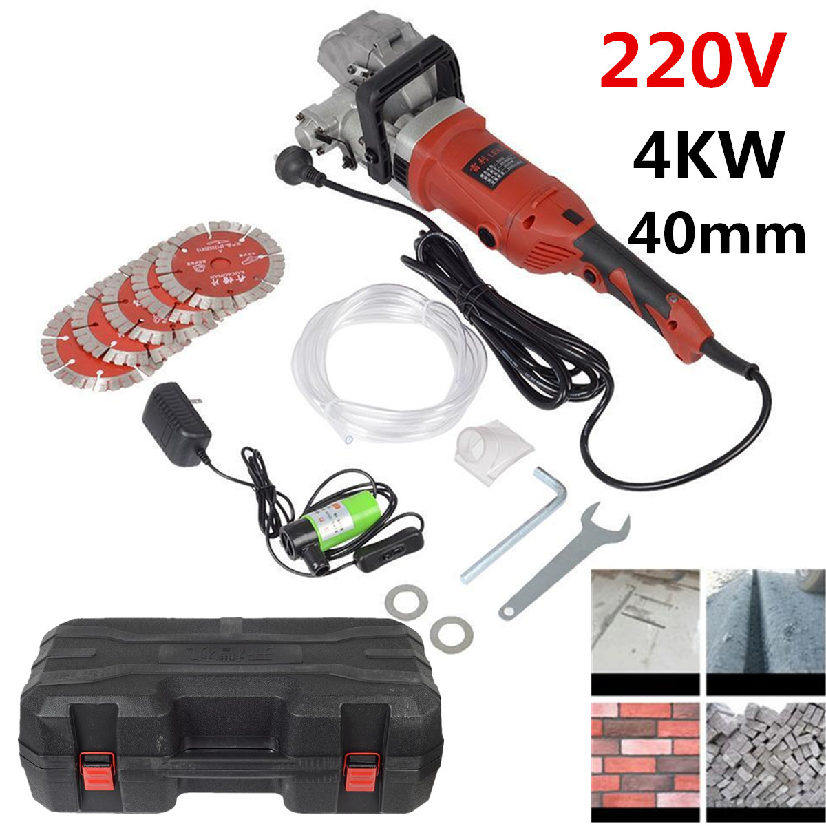 220V Electric Wall Chaser~ Groove Cutting Machine Wall slotting machine Steel Concrete cutting machine 4KW 40mm