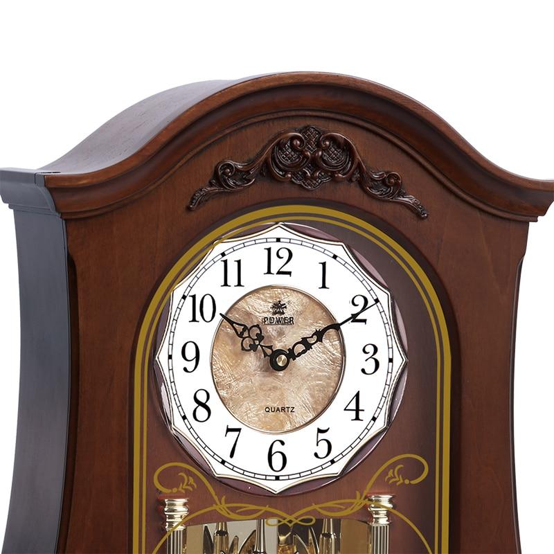 Merek baru High - end jam meja kayu, Gerakan kuarsa diam, Jam meja, - Dekorasi rumah - Foto 3
