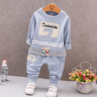 Spring Newborn Baby Clothes Set Baby Boy Clothes Digital English Pattern 2pc Infant Clothing Costume Long