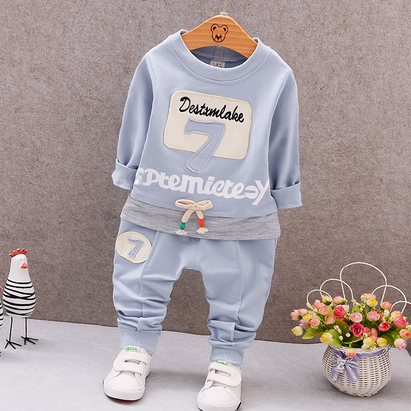 Spring Newborn Baby Clothes Set Baby Boy Clothes Digital English Pattern 2pc Infant Clothing Costume Long Sleeve T-Shirt Pant newborn baby photography props infant knit crochet costume peacock photo prop costume headband hat clothes set baby shower gift