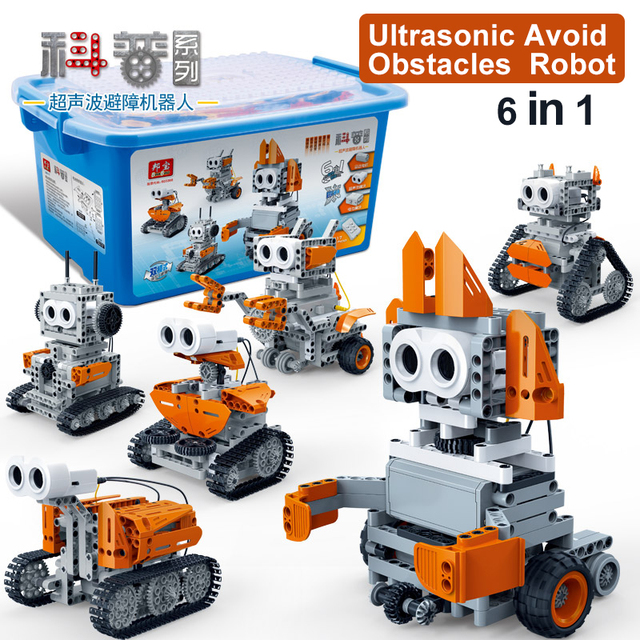 BanBao Compatible legoed technic kit Ultrasonic Avoid Obstacles ...