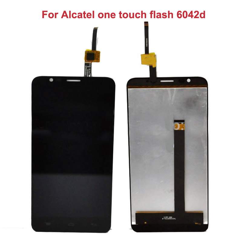 Black New Original LCD Display For Alcatel one touch flash