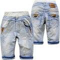 4028 verano suave denim jeans shorts pantalones casual becerro de longitud 70% longitud fresco niños de los niños de moda nuevos pantalones vaqueros del muchacho pantalones cortos
