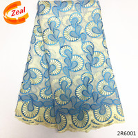 Zeal Best Selling African swiss voile lace high quality New African lace Fabric for wedding 5 Yards Cotton Lace Fabirc 2R60