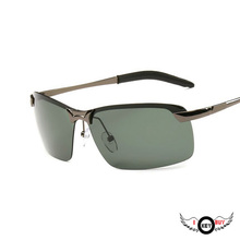 1PC Classic Ink green Lens Driver Mirror Men Polarized Sunglasses Nine Layer Polarized High Quality Alloy очки nike optics rabid p matte crystal mercury grey volt green polarized lens