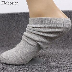 Image 3 - 8 Pairs Plus Size Mens Cotton Soft Dress Business Formal Solid Color Autumn Socks Winter Warm Black White 48 44 45 46 47
