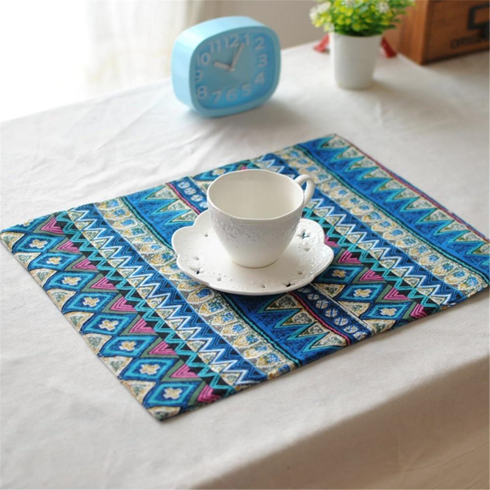 Professionele Verkoop Fuya Blauw En Wit China Stijl Thuis Essentiële Dubbeldeks Mat Tafelkleed Chinese Traditionele Stijl Restaurant Mat Pads