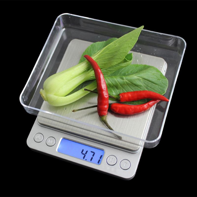 цена на 500g x 0.01g 2kg / 3kg x 0.1g Portable Kitchen Scale Mini Electronic Digital Scales Pocket Digital Scale Flour Cake Weighing