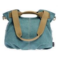 Canvas Bag Korean Female Bag Portable Canvas Shoulder Messenger Bag Big Bag Mobile Messenger