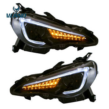 Vland Factory Car Accessories Head Lamp for Toyota GT86 2012-UP&FT86 BRZ 2013-UP LED Head Light with Sequential Indicator - DISCOUNT ITEM  11% OFF All Category