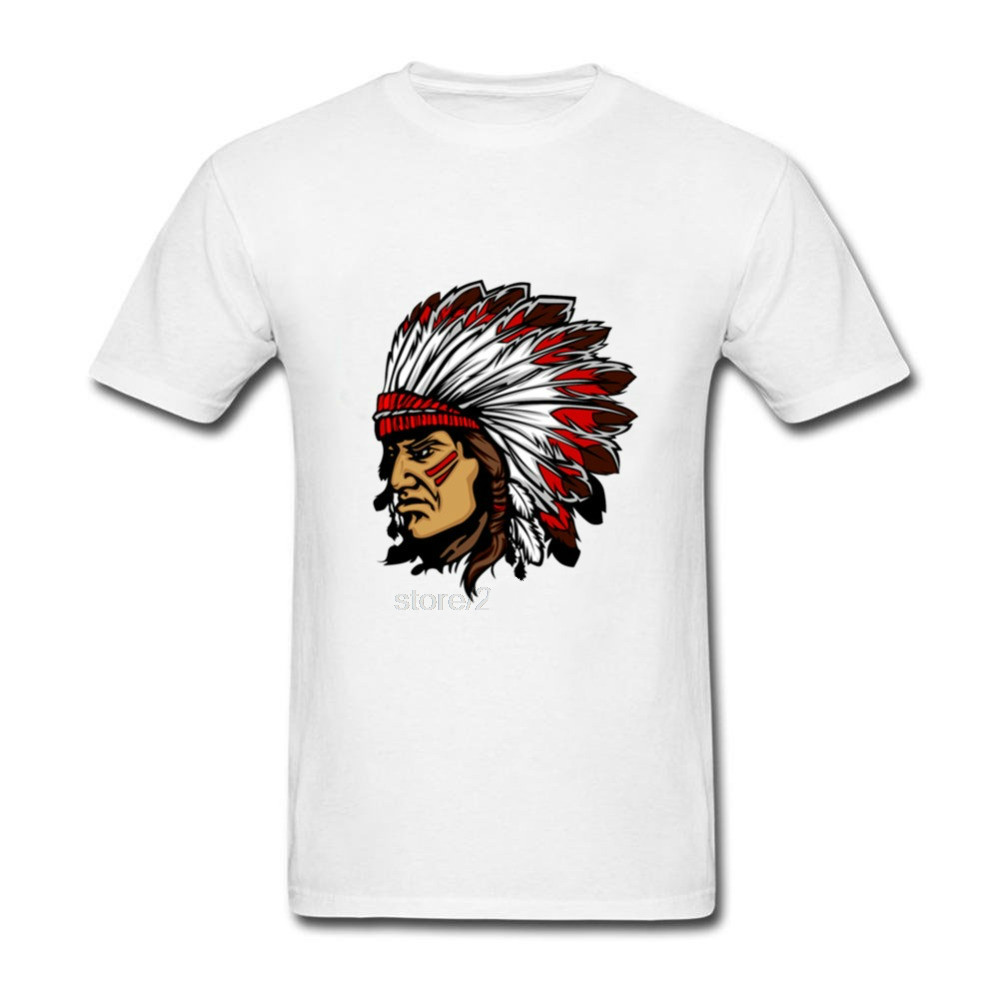 2018 New Brand Fashion Ameran Indian Warrior Streetwear Cotton Man T-shirts Tops Tees Short Sleeve Casual T Shirts